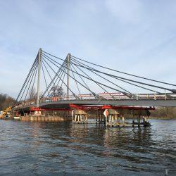 Mürmann Zugstabsysteme für temporären Einsatz an der neuen Kampmannbrücke in Essen
