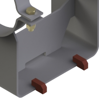 Lift-off restraints for clamp bases type 49