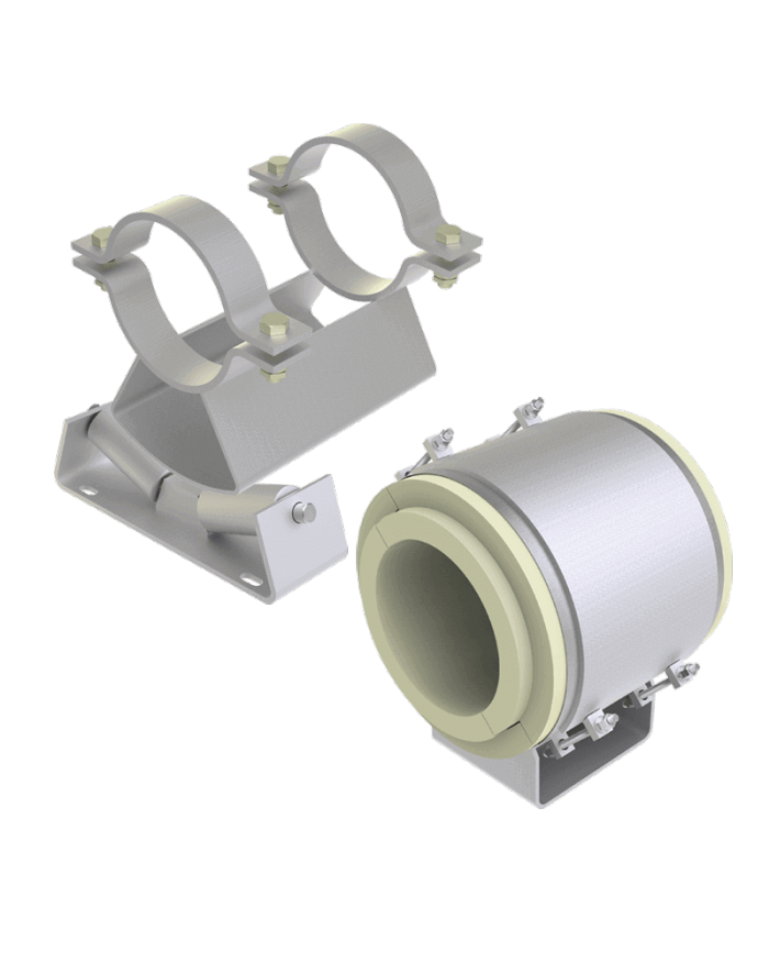Cryogenic pipe supports, roller bearings and pipe saddles by LISEGA