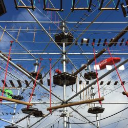 m.connect tension rod systems in Oberhof High Wire Parcours